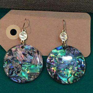 Metallic or iridescent earrings